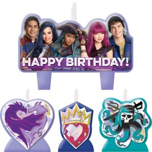 Descendants 2 Birthday Candles 4ct
