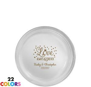 Personalized Wedding Plastic Dessert Plates
