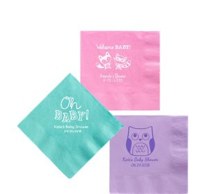 Personalized Baby Shower Beverage Napkins