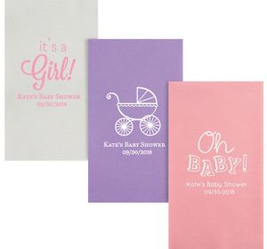 Personalized Baby Shower Premium Guest Towels
