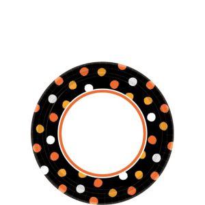 Polka Dot Halloween Dessert Plates 40ct