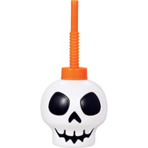 Skull Cup with Straw