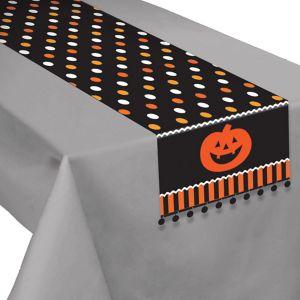 Polka Dot Jack-o'-Lantern Table Runner