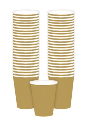 Big Party Pack Gold Paper Cups 48ct