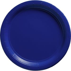 Big Party Pack Royal Blue Paper Dinner Plates 50ct