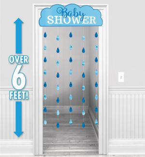 Boys Baby Shower Doorway Curtain