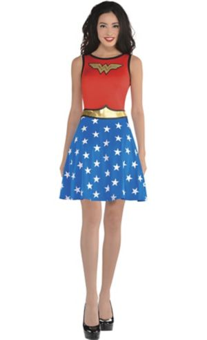 Adult Wonder Woman Fit & Flare Dress