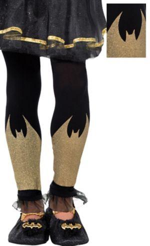 Child Batgirl Footless Tights - Batman