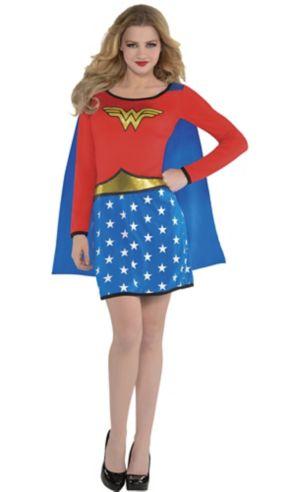 Adult Long-Sleeve Wonder Woman Dress