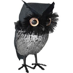 Black & Silver Owl Decoration
