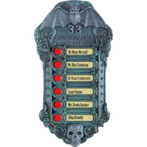 Light-Up Haunted Doorbell Sign with Sound Effects