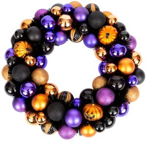 Glitter Halloween Ornament Wreath