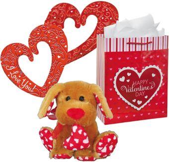 Sweetie Dog Plush Valentine's Day Gift Kit