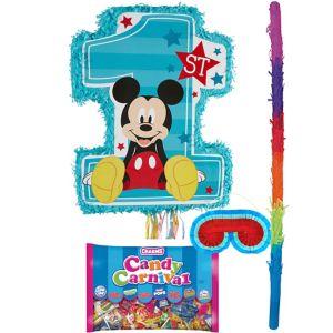 1st Birthday Mickey Mouse Pinata Kit