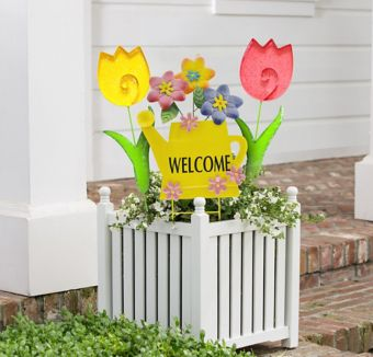 Welcome Spring Yard Stake Set