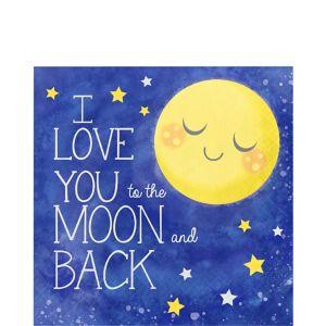 Moon & Stars Lunch Napkins 16ct