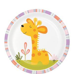 Happy Jungle Giraffe Dessert Plates 8ct