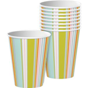Pastel Stripes Cups 8ct