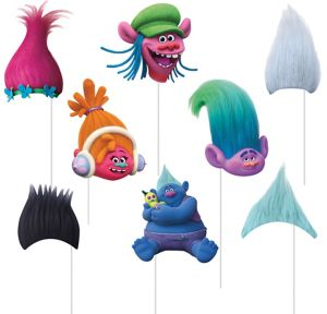 Trolls Photo Booth Props 8pc