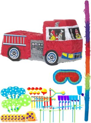 Fire Engine Pinata Kit with Favors