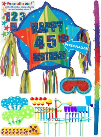 A Year to Celebrate Personalized Pinata Kit with Favors