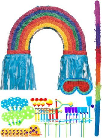 Rainbow Pinata Kit with Favors