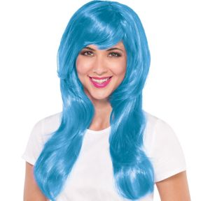 Glamorous Long Light Blue Wig