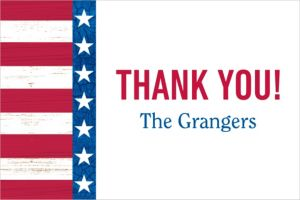 Custom Star Spangled Thank You Note