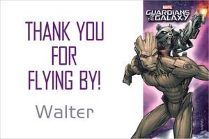 Custom Guardians of the Galaxy 2 Thank You Note