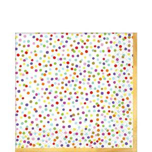 Rainbow Confetti Lunch Napkins 36ct