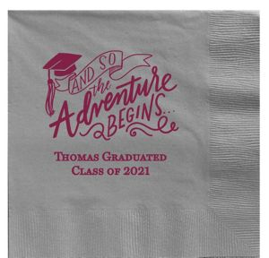 Personalized Graduation Dinner Napkins