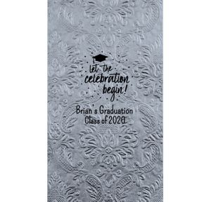 Personalized Graduation Embossed Damask Guest Towels