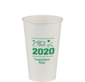 Personalized Graduation Paper Cups 16oz