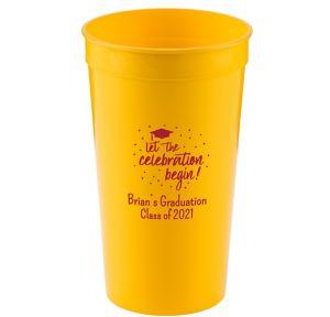 Personalized Graduation Plastic Stadium Cups 32oz