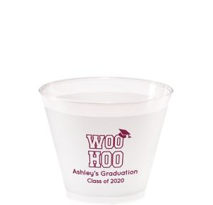 Personalized Graduation Frosted Plastic Shatterproof Cups 9oz