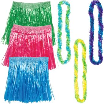 Adult Cool Luau Costume Accessory Kit for 3 Guests