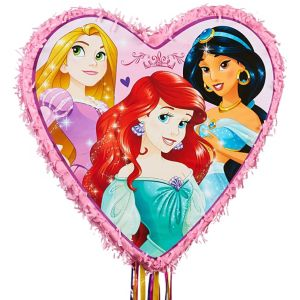 Pull String Disney Princess Pink Heart Pinata