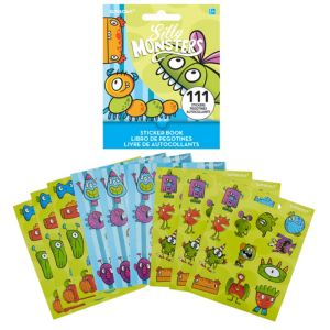 Silly Monster Sticker Book 9 Sheets