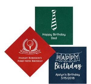 Personalized Birthday Premium Lunch Napkins
