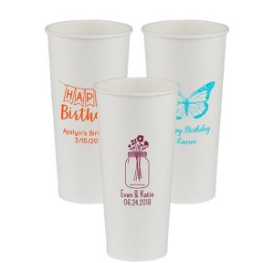 Personalized Birthday Paper Cups 24oz