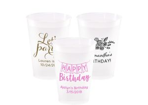 Personalized Birthday Frosted Plastic Shatterproof Cups 12oz