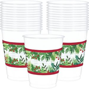 Boughs of Holly Cups 25ct