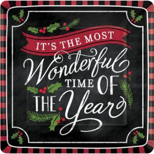 Most Wonderful Time Dinner Plates 18ct