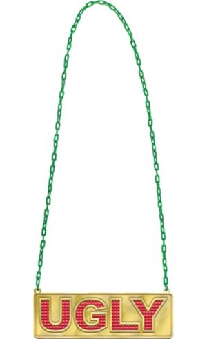 Ugly Pendant Chain Link Necklace