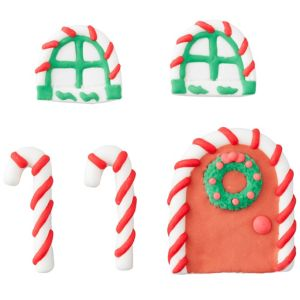 Gingerbread House Icing Decorations 5ct