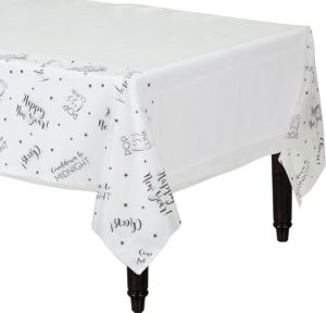Cheerful New Year's Table Cover