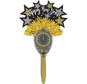 Mini Black, Gold & Silver New Year's Maraca