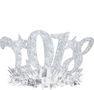 Glitter Silver 2018 New Year's Headband