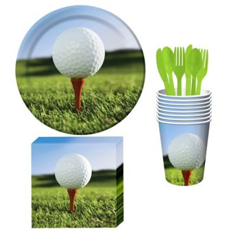 Golf Basic Tableware Kit for 8 Guests