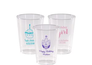 Personalized Girls Birthday Hard Plastic Cups 10oz